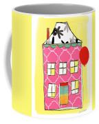 Pink House Coffee Mug by Linda Woods