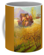 Pink House Yellow Field Coffee Mug