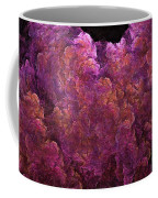 Pink Hydrangea Fractal Blossoms Coffee Mug