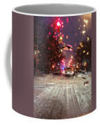 Pink Lights In Snowtrax Coffee Mug
