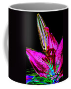 Pink Lily And Bud Pop Art Coffee Mug