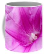 Pink Morning Glory Flower Macro Coffee Mug