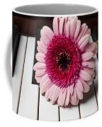Pink Mum On Piano Keys Coffee Mug