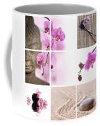 Pink Orchid And Buddha Collage Coffee Mug