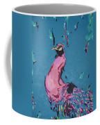 Pink Peacock Full View Coffee Mug