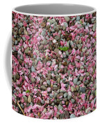 Pink Petals On Stones  Coffee Mug