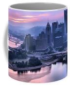 Pink Pittsburgh Morning Coffee Mug