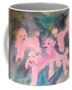 Pink Poodle Polka Coffee Mug