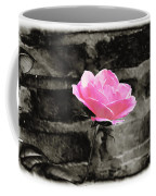 Pink Rose In Black And White Coffee Mug
