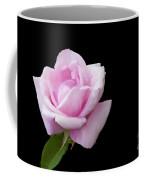 Pink Rose On Black Coffee Mug