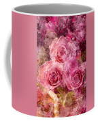 Pink Roses And Pearls Coffee Mug