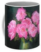 Pink Roses In A Brass Vase Coffee Mug