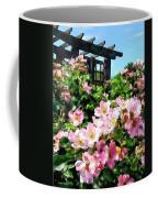 Pink Roses Near Trellis Coffee Mug