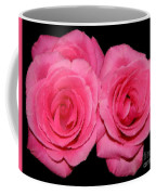Pink Roses With Brush Stroke Effects Coffee Mug