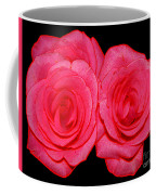 Pink Roses With Colored Edges Effects Coffee Mug