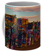 Pink Sky At Cadillac Ranch Coffee Mug