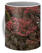 Pink Spring - Dogwood Filigree And Lace Coffee Mug by Georgia Mizuleva