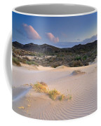 Pink Sunset At The Desert Coffee Mug