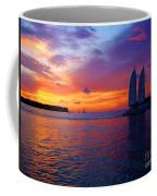 Pink Sunset In Key West Florida Coffee Mug by Susanne Van Hulst
