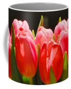 Pink Tulips In A Row Coffee Mug