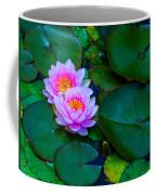 Pink Water Lilies - Lotus Coffee Mug