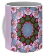 Pink Weeping Cherry Blossom Kaleidoscope Coffee Mug