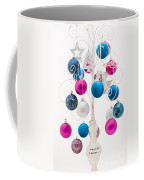 Pink White And Blue Christmas Coffee Mug by Anne Gilbert