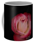 Pink White Rose Coffee Mug