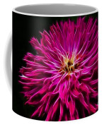 Pink Zinnia Digital Wave Coffee Mug