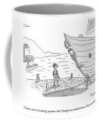 Pinocchio Addresses The Wooden Mermaid Coffee Mug