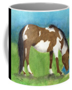 Pinto Mustang Horse Mare Farm Ranch Animal Art Coffee Mug