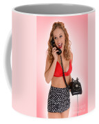 Pinup Girl On The Phone Coffee Mug