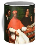 Piombo's Cardinal Bandinello Sauli And His Secretary And Two Geographers Coffee Mug