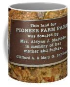 Pioneer Farm Park Plaque At Andersonville Georgia Coffee Mug