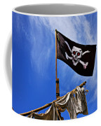 Pirate Flag On Ships Mast Coffee Mug
