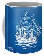 Pirate Ship Blueprint Artwork Coffee Mug