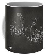 Pirate Ship Patent Artwork - Gray Coffee Mug by Nikki Marie Smith