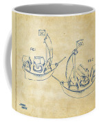 Pirate Ship Patent Artwork - Vintage Coffee Mug