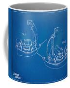 Pirate Ship Patent - Blueprint Coffee Mug by Nikki Marie Smith