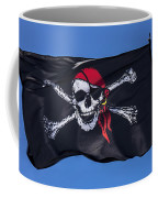 Pirate Skull Flag With Red Scarf Coffee Mug