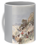 Pirates From The Barbary Coast Capturin Gslaves On The Mediterranean Coast Coffee Mug by Albert Robida