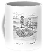 Pirates Stand Around A Dug Up Treasure Chest Coffee Mug