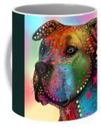 Pit Bull Coffee Mug by Mark Ashkenazi