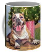 Pitbull Christmas Coffee Mug