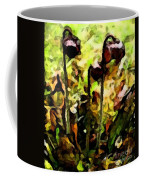 Pitcher Plant Abstraction Coffee Mug