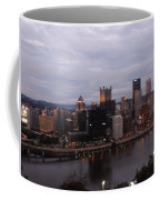 Pittsburgh Aerial Skyline At Dusk Coffee Mug