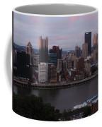 Pittsburgh Aerial Skyline At Sunset 3 Coffee Mug