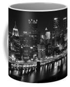Pittsburgh Black And White Night Coffee Mug