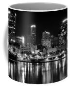 Pittsburgh Black And White Panorama Coffee Mug