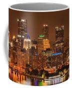 Pittsburgh Lights Under Cloudy Skies Coffee Mug